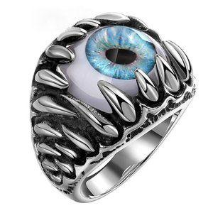 Men's Silver Evil Eye Ring